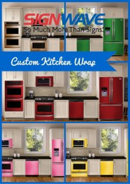 Custom Kitchen Wrap